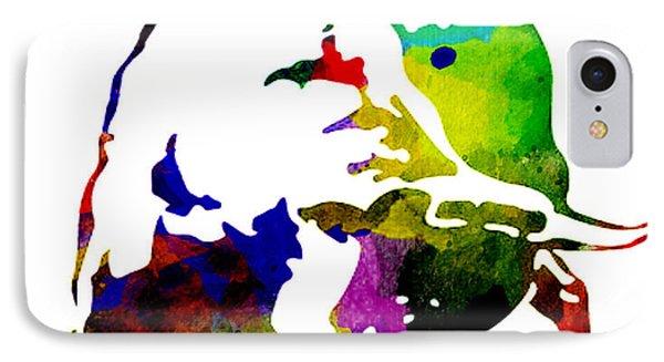 Lamborghini Bull Emblem Colorful Abstract. IPhone Case by Eti Reid