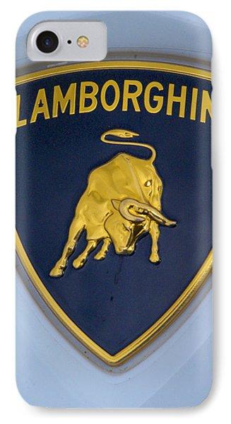 Lamborghini Car Badge IPhone Case by John Colley