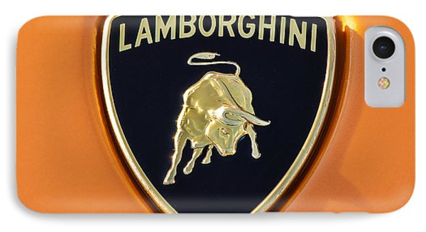 Lamborghini Emblem -0525c55 IPhone Case by Jill Reger