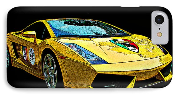 Lamborghini Gallardo 3/4 Front View IPhone Case by Samuel Sheats