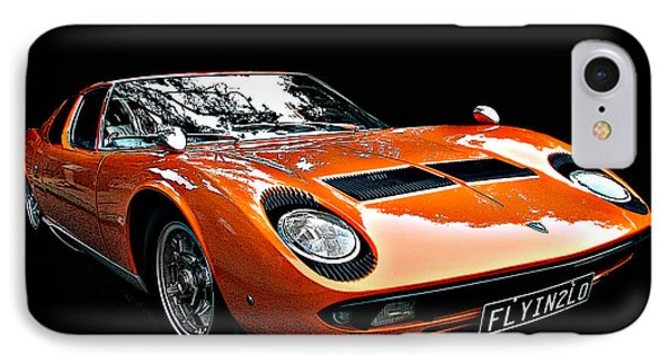 Lamborghini Miura S IPhone Case by Samuel Sheats