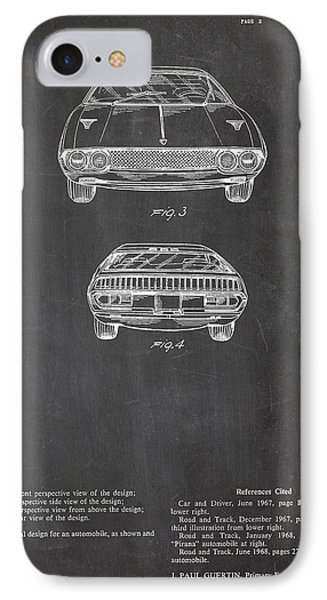Lamborghini Patent Drawing IPhone Case by Art Photography