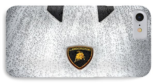 Lamborghini Performante Hood In Hdr IPhone Case by Michael White