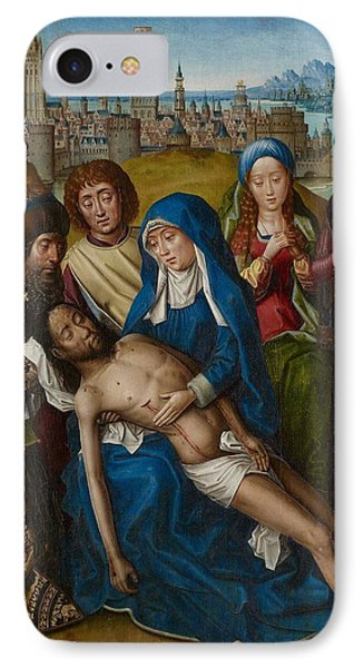 Lamentation With Saint John The Baptist And Saint Catherine Of Alexandria Phone Case by Master of the Legend of Saint Lucy