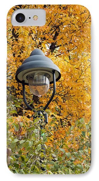 Lamp In The Autumn Leaves Phone Case by Michal Boubin