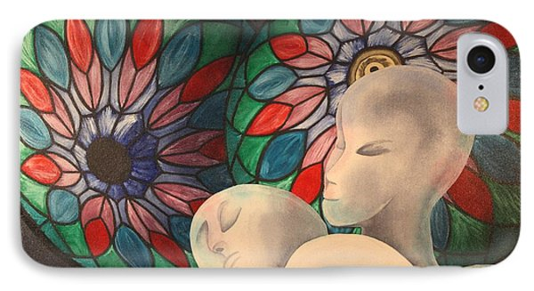 IPhone Case featuring the painting Lamp Shades And Wigheads by Paul Amaranto