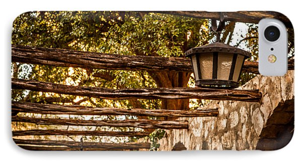 Lamps At The Alamo IPhone Case by Melinda Ledsome