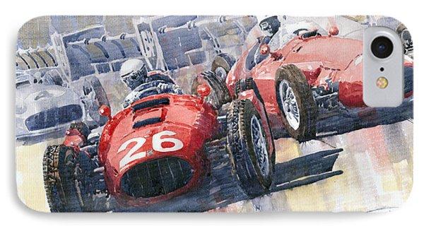 Lancia D50 Alberto Ascari Monaco 1955 IPhone Case by Yuriy  Shevchuk