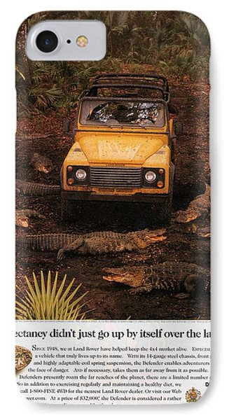 Land Rover Defender 90 Ad IPhone Case by Georgia Fowler