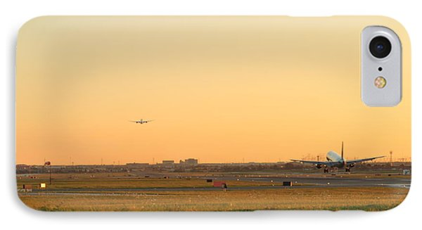 IPhone Case featuring the photograph Landing And Taking Off  by Puzzles Shum