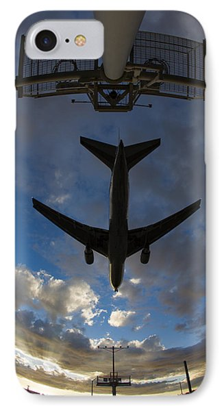 Landing At Lax  73a3680 IPhone Case by David Orias