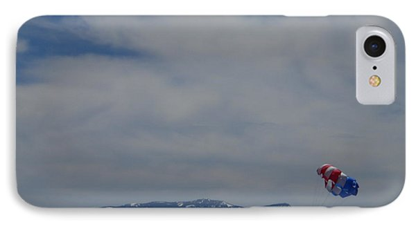 IPhone Case featuring the photograph Parasail Landing by Bobbee Rickard