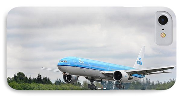 IPhone Case featuring the photograph Klm Landing by Evelina Popilian