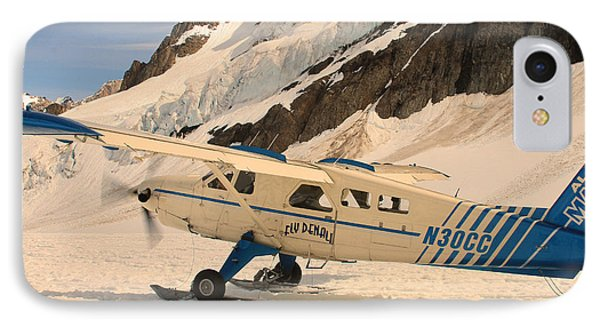 Landing On An Alaskan Mountain IPhone Case