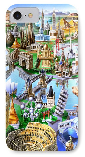 Landmarks Of The World IPhone Case by Adrian Chesterman