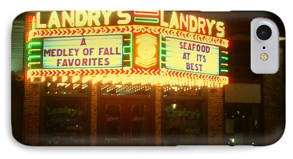 Landry's Seafood In Lomoish IPhone Case by Kelly Awad