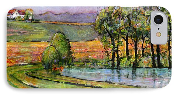 Landscape Art Scenic Fields IPhone Case by Blenda Studio