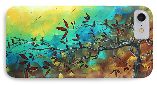 Landscape Bird Original Painting Family Time By Madart Phone Case by Megan Duncanson
