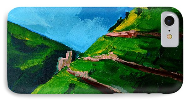 Landscape Castle Along The River Rhine Phone Case by Patricia Awapara
