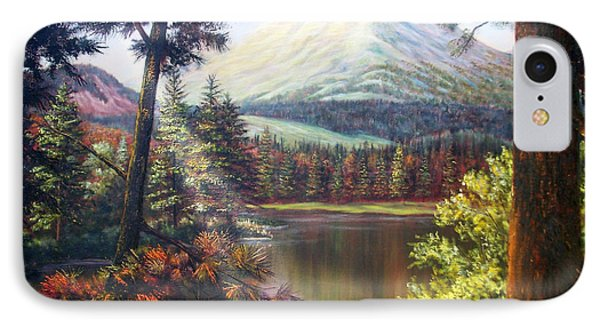 Landscape-lake And Trees IPhone Case