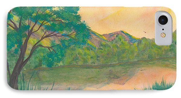 Landscape Of The Mind IPhone Case by Denise Hoag