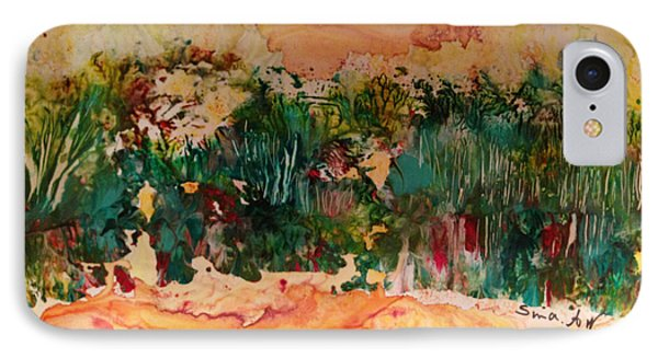 IPhone Case featuring the painting Landscape Twohundred by Sima Amid Wewetzer