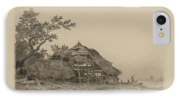 Landscape With A Dilapidated Shed, Remigius Adrianus Haanen IPhone Case