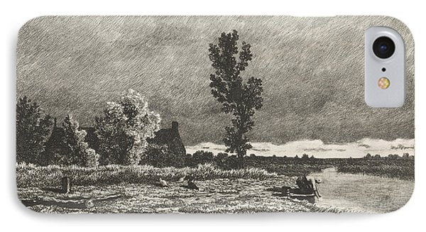 Landscape With A Woman Who Does The Laundry IPhone Case