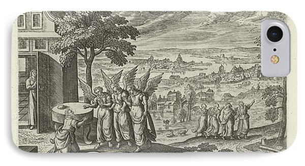 Landscape With Abraham And The Three Angels IPhone Case
