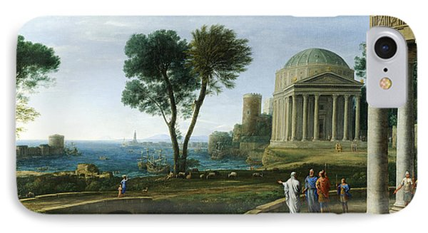 Landscape With Aeneas At Delos IPhone Case by Claude Lorrain