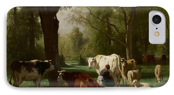 Landscape With Cattle And Sheep IPhone Case