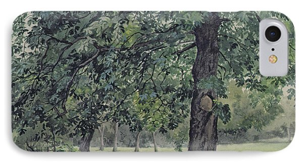 Landscape With Chestnut Tree In The Foreground IPhone Case