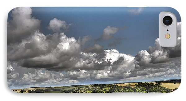 IPhone Case featuring the photograph Landscape With Clouds by Winifred Butler