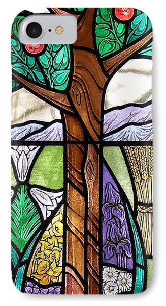 Landscape With Flora IPhone Case by Gilroy Stained Glass