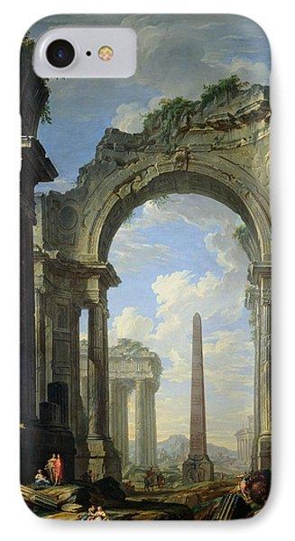 Landscape With Ruins IPhone Case by Giovanni Niccolo Servandoni