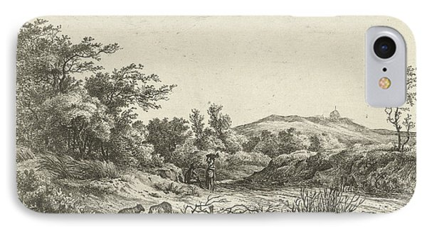 Landscape With Shepherd And Wife, Print Maker Hermanus Fock IPhone Case by Hermanus Fock
