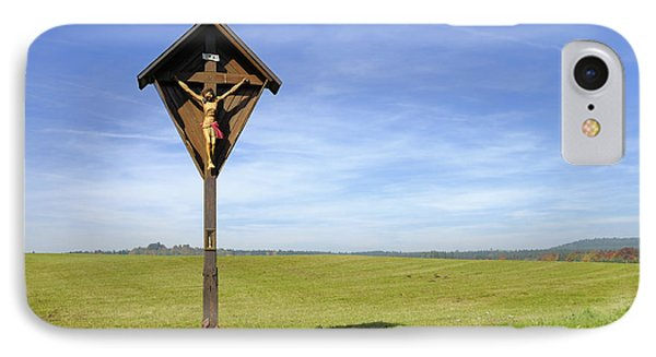 Landscape With Wayside Crucifix IPhone Case