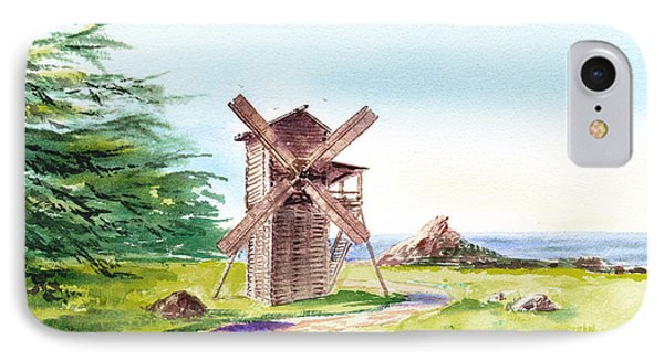 Landscapes Of California Fort Ross Windmill IPhone Case by Irina Sztukowski