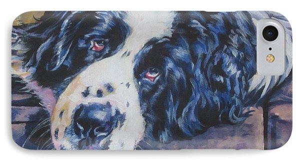 Landseer Newfoundland Dog IPhone Case by Lee Ann Shepard