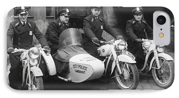 Landshut City Police IPhone Case by Underwood Archives