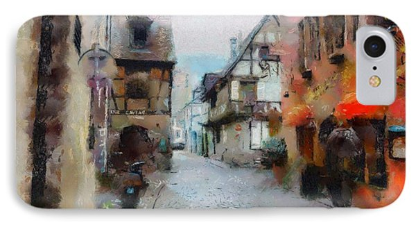 IPhone Case featuring the painting Lane In France by Wayne Pascall