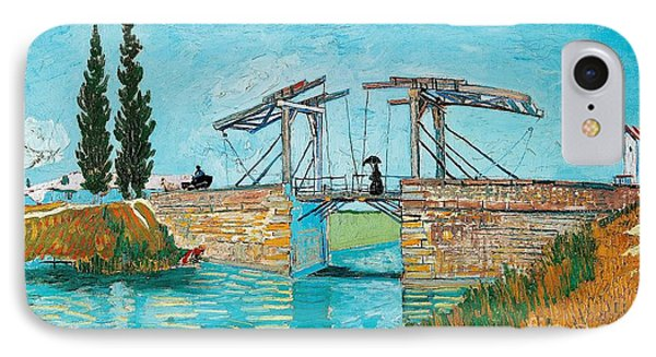Langlois Bridge At Arles IPhone Case by Vincent van Gogh