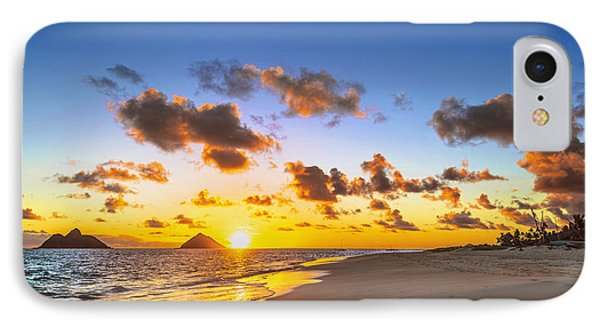 IPhone Case featuring the photograph Lanikai Beach Bright Sunrise by Aloha Art