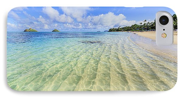 Lanikai Beach Mid Day Ripples In The Sand IPhone Case by Aloha Art