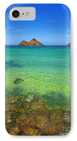 IPhone Case featuring the photograph Lanikai Beach Sea Turtle by Aloha Art