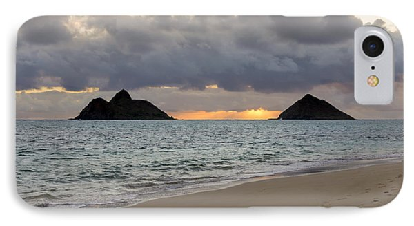 Lanikai Beach Sunrise 4 - Kailua Oahu Hawaii Phone Case by Brian Harig