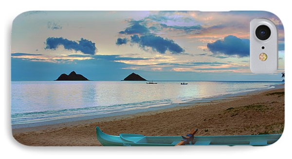 Lanikai Beach Sunrise 6 - Kailua Oahu Hawaii Phone Case by Brian Harig