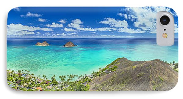 IPhone Case featuring the photograph Lanikai Bellows And Waimanalo Beaches Panorama by Aloha Art