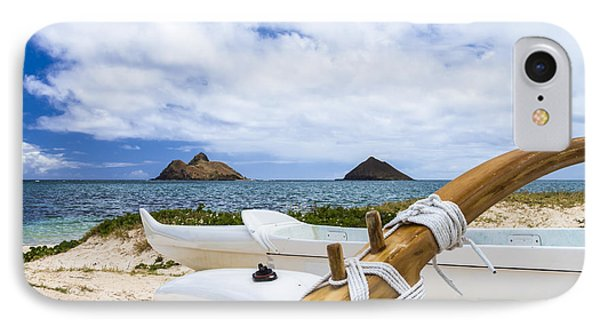 IPhone Case featuring the photograph Lanikai Outrigger 1 by Leigh Anne Meeks