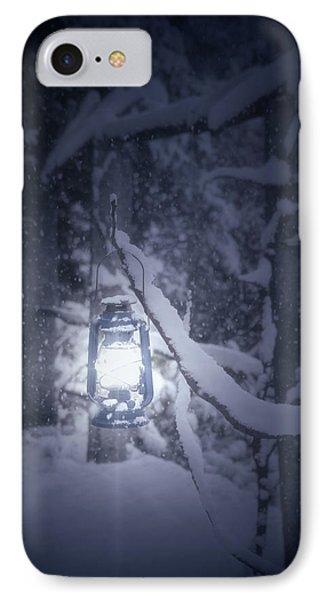 Lantern In Snow Phone Case by Joana Kruse